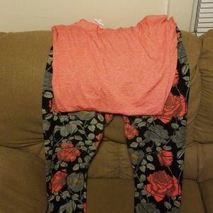 LulaRoe TC leggings & matching L LulaRoe Irma